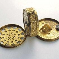 Gilded brass pendant watch