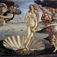 The birth of Venus, Botticelli, 1485