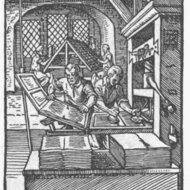 Presse à imprimer, Gutenberg