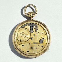 Round watch with keyless winding