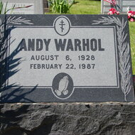 Tombe d'Andy Warhol © Allie Caulfield