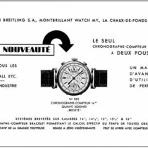 Patent for a chronograph with two pushpieces