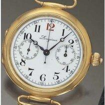 Wristwatch with single button chronograph, Longines, 1910 © Antiquorum.com