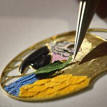 Marqueterie florale ou Marqueterie en bois précieux © Cartier