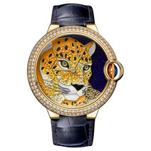 Cartier: Ballon Bleu de Cartier Enamel granulation with panther motif