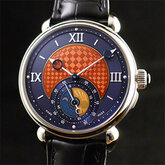 GMT-6 Enamel Double Back腕表
