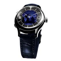 Laurent Ferrier: Galet Traveller Globe Night Blue