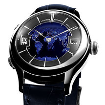 Galet Traveller Globe Bleu Nuit