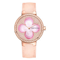 Louis Vuitton : Montre Tambour Monogram Blossom 35 mm Automatique