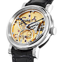 Roger W. Smith: 40 mm White Gold Open Dial
