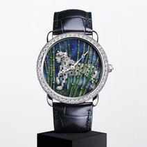 Cartier: Ronde Louis Cartier Enamel Filigree Watch