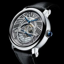 Montre rotonde de Cartier astrorégulateur