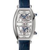Skeleton Dual Time Zone Tonneau Watch