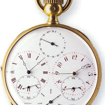 Pocket watche with 2 movements giving 2 local times - Musée de l'horlogerie du Locle
