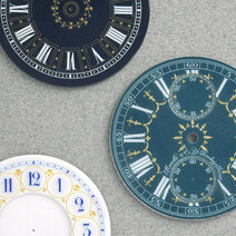 Enamelled dials with decorative paillons