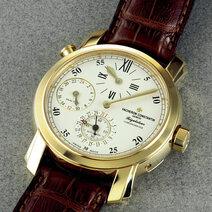 Montre-bracelet régulateur malte dual time