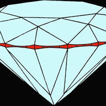 Rondiste (pour diamants) ou feuilletis (pour pierres des couleurs)