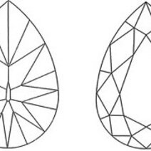 Pear-shape (56 facets)