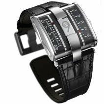 2009 En collaboration avec Jean-Marc WIEDERRECHT (horloger) et Eric GIROUD (designer) Harry Winston présente l'Opus IX à affichage linéaire des heures et des minutes par deux chainettes parallèles de diamants entrainées par un mécanisme automatiqu