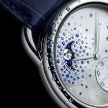 Hermès: Arceau Petite Lune Jeté de diamants et saphirs