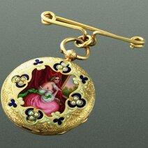 Montre-broche pour dame/1840