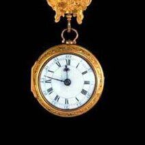 Gold chatelaine watch