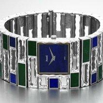 Piaget: Montre manchette lapis-lazuli et jade/1971