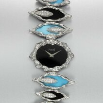 Piaget: Onyx turquoise watch/1977