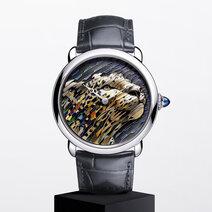 Cartier: Montre Ronde Louis Cartier Marqueterie de Paille et d'Or