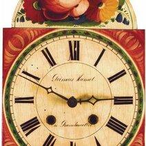 Horloge à cadran laqué, vers 1830