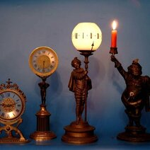 Small series of night lamp clocks