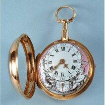 Montre de poche à remontage automatique attribuée à Abraham-Louis Perrelet, le Locle, fin XVIIIe siècle