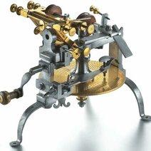 Machine à tailler les roues de rencontre, munie d'un compteur. fin du 18ème siècle