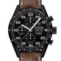 Carrera Calibre 16 Day-Date Chronograph Black Titanium square