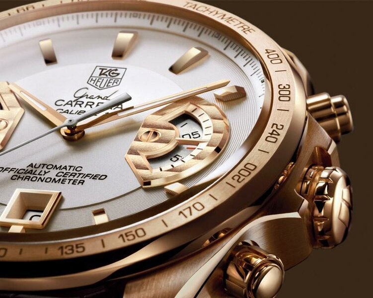 f22d24d89f0 TAG Heuer: Grand CARRERA Calibre 17 RS Chronograph Rose Gold/2008. 1 / 2