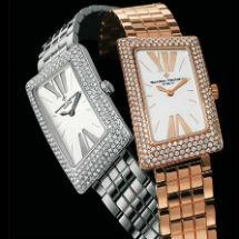 1972 cambrée女士时计,配备小型金手镯式表带