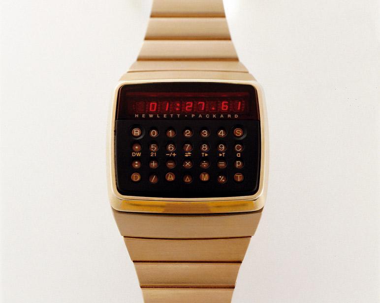 Quartz watch with LED