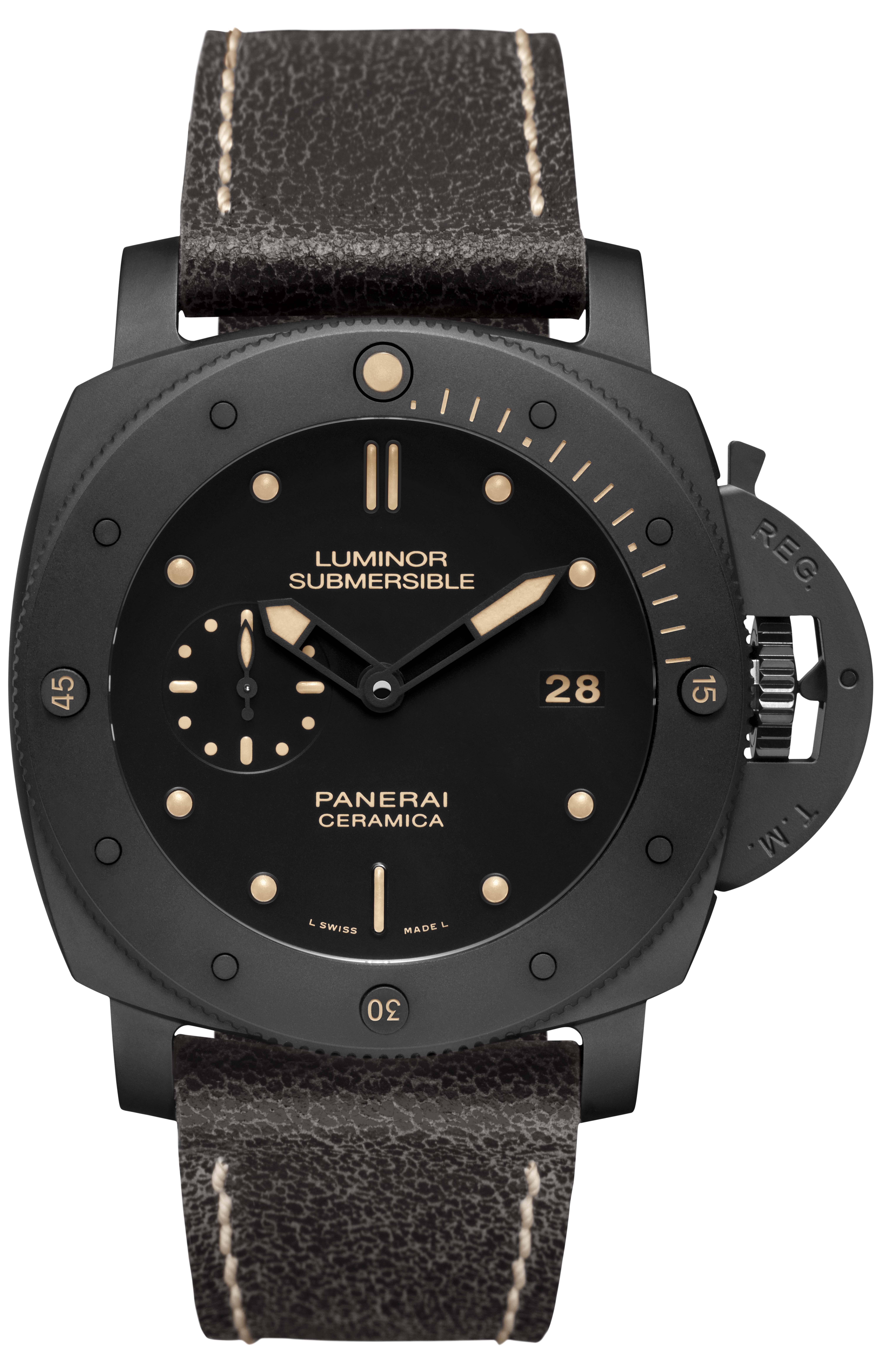 Officine Panerai:  Luminor Submersible 1950 3 Days Automatic Ceramica