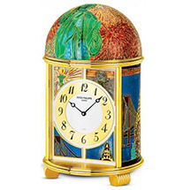 grand feu enamel clock