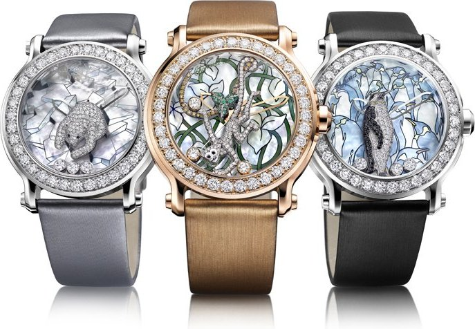 Animal world collection fondation de la haute horlogerie for Chopard animal world jewelry collection