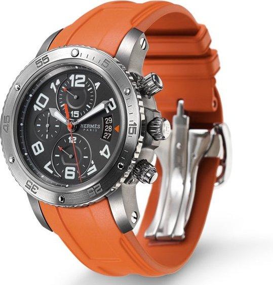 Hermès: Hermès Clipper 44mm 机械时计/2010